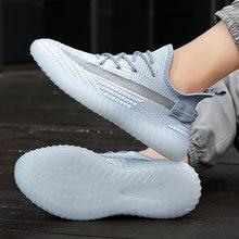 Модные кроссовки 2020 осень летающие плетения сетки дышащая