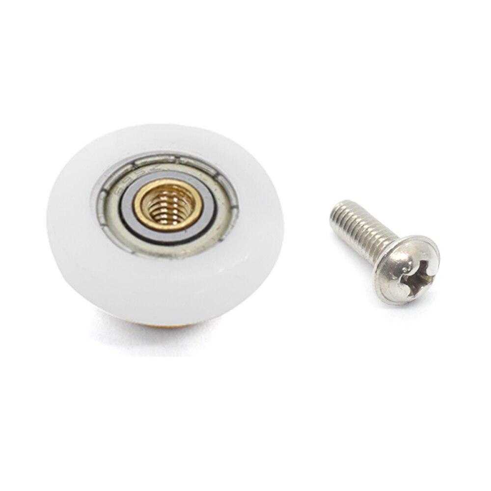 4 Uds carcasa de pl/ástico rodillo de polea con ranura en U de Metal tipo U de gu/ía de polea rodamiento de rodillo de rueda de 0,3 pulgadas ID para sistema de movimiento lineal