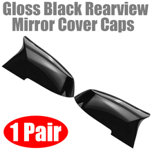 For BMW 2pcs Gloss Black ABS Plastic Side Rearview Mirror Cover Universal Support F20 F21 F22 F30 F32 F36 X1 F87 M3