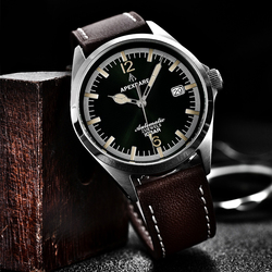 Men's Business Leisure Diving Watch Sapphire Glass Luminous Waterproof Retro Leather Japan Nh35a Automatic Limited Edition Watch
