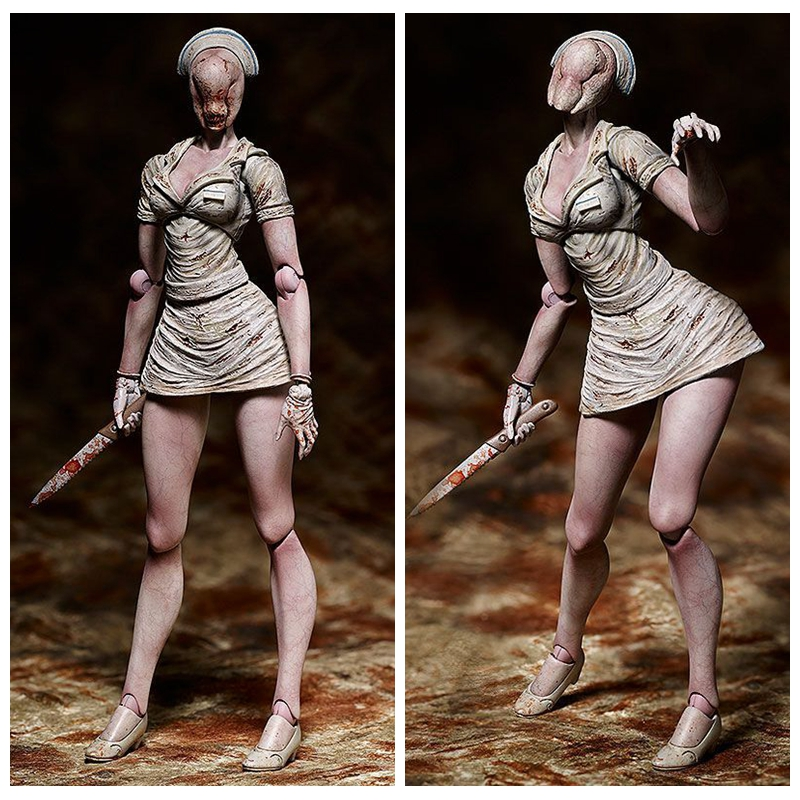 Figma SP-061 Game SILENT HILL 2 BUBBLE HEAD NURSE Action Figure Toy Collection Model Toys Gift Doll 15cm image