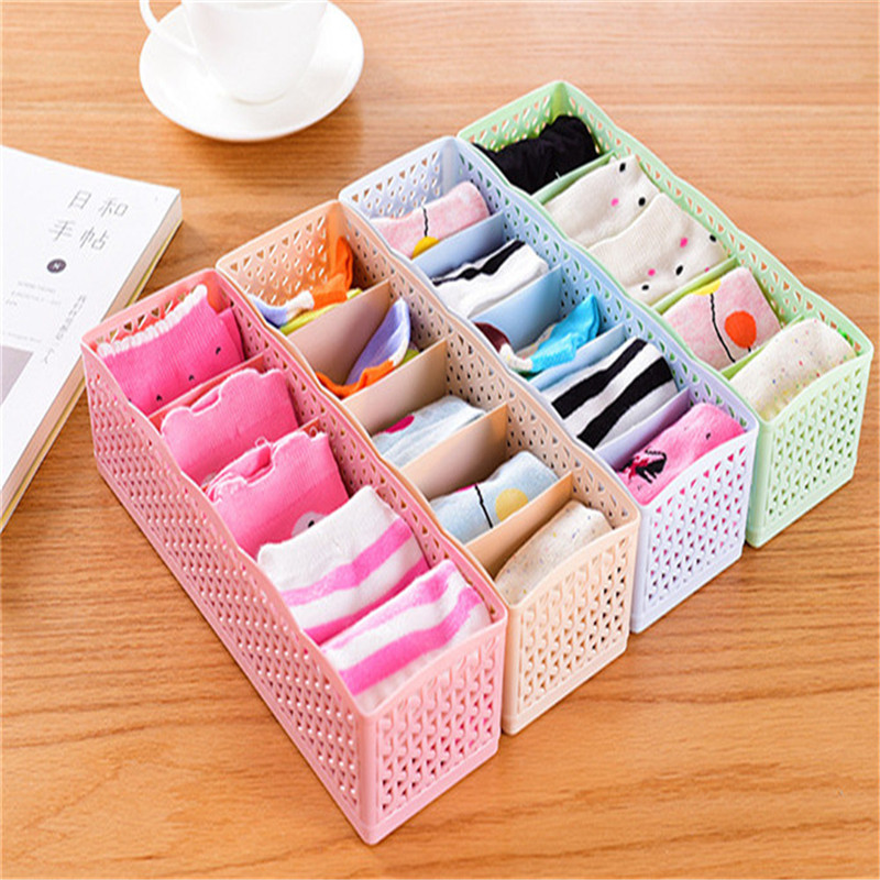 Storage-Box Underwear Container Socks Makeup-Organizer Wardrobe Multi-Function Plastic title=