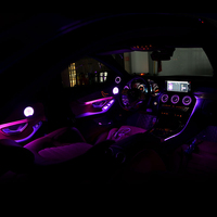 64 color refit ambient light for Mercedes benz C W205 GLC class C260 GLC C180 class atmosphere advanced light cover all around