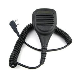 Image 1 - 2 pin Speaker Mic Microphone KMC 38 For Baofeng UV3R+ Plus UV5RB UV5RC UV82 UV 8D UV B5 UV B6 GT 3 A52 Two Way Radio