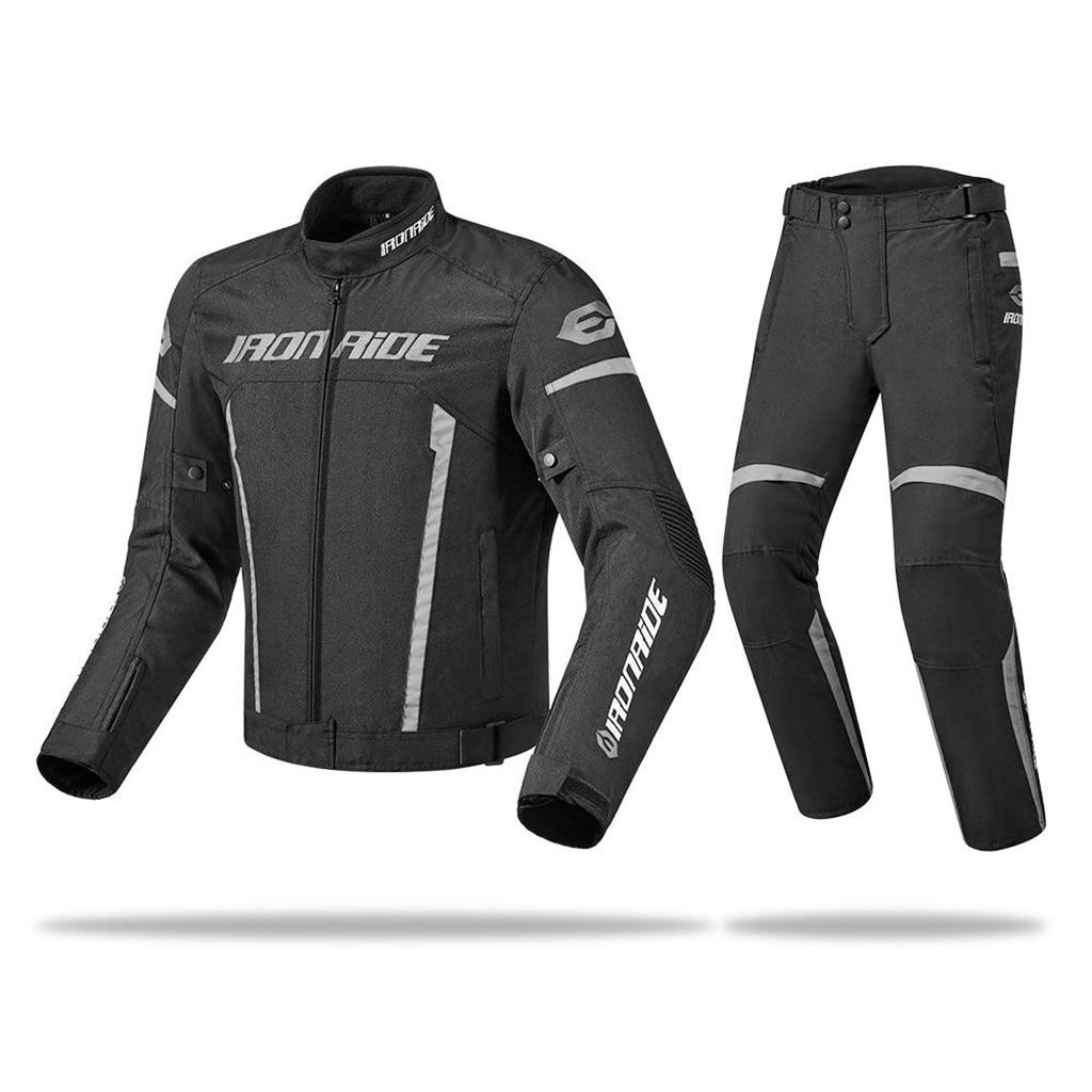 Мужская мотоциклетная куртка и брюки IRONRIDE, водонепроницаемая мотоциклетная одежда для верховой езды, защитное снаряжение, куртка и броня д...