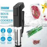 Vacuum Slow Sous Vide Food Cooker 2000W 15L Powerful Immersion Circulator Machine LCD Digital Timer Display Stainless Steel