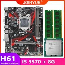 H61 placa-mãe lga 1155 conjunto kit com processador cpu intel core i5 3570 e 8gb (2*4gb) memória de desktop ddr3 ram usb2.0 H61M-H