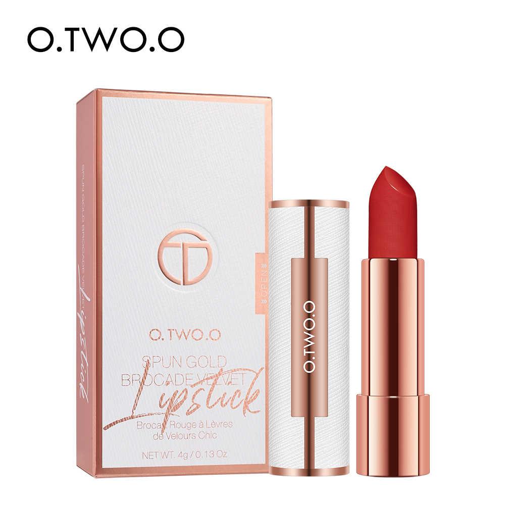 O.TWO.O Opaco Rossetto Nude Marrone Rosso Trucco Labbra di Velluto di Seta Liscia Texture di Lunga Durata Impermeabile Lip Stick 12 Colori