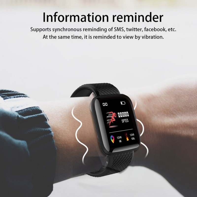 Fitness Tracker Bluetooth Smart Wristband Color Touchscreen Swim Posture Detect Heart Rate Sleep Snap Smart Bracelet Smart Watch image