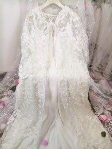 Image 5 - Elbise kadın elbise zarif pijama beyaz dantel gecelik uzun elbise bayanlar düğün elbisesi parti elbise