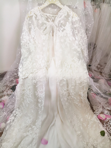 Image 5 - Robe Women Dress Elegant Sleepwear White Lace Nightgown Long Dress Ladies Wedding Dress Party Dress