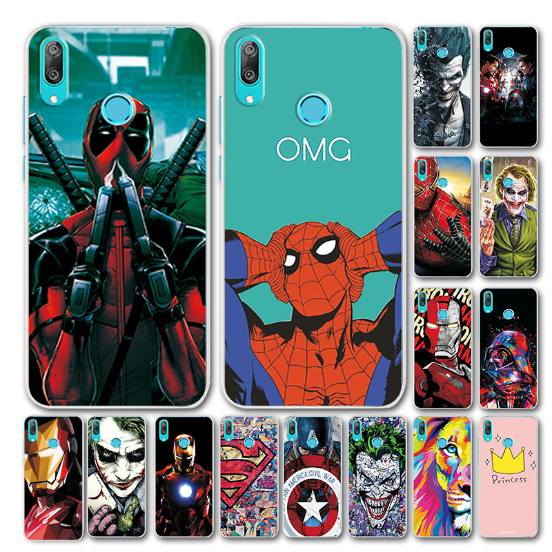 Novelty Superhero Phone <font><b>Case</b></font> For <font><b>Huawei</b></font> <font><b>Y7</b></font> <font><b>2019</b></font> <font><b>Case</b></font> Bumper For <font><b>Huawei</b></font> <font><b>Y7</b></font> Prime <font><b>2019</b></font> <font><b>Marvel</b></font> Avengers TPU Cover <font><b>Y7</b></font> <font><b>2019</b></font> 6.26 inch image