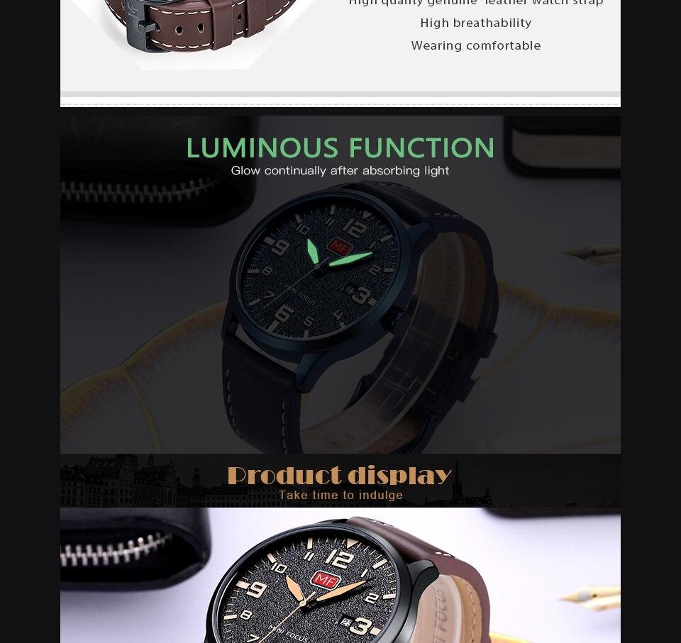 H9d5c5e03abee4acd8635ac566766bdb3m MINI FOCUS Luxury Brand Men's Wristwatch Quartz Wrist Watch Men Waterproof Brown Leather Strap Fashion Watches Relogio Masculino