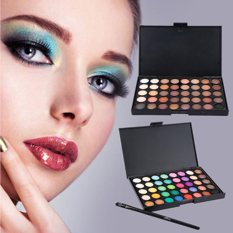 NEW 40 Colors Matte Shimmer Eyeshadow Makeup Palette Earth Color Eye Shadow Pallete Pearl Long Lasting Makeup Cosmetic Set TSLM2 3