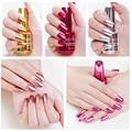 Зеркальный эффект лак для ногтей металлик Пурпурная роза цвета: золотистый, Серебристый Хром лак для ногтей маникюрный лак украшения
