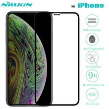 Nillkin Voor Iphone Xr 11 Pro Max X Xs Gehard Glas Screen Protector 3D Volledige Dekking Veiligheid Glas Voor Iphone 8 7 Plus Se 2020