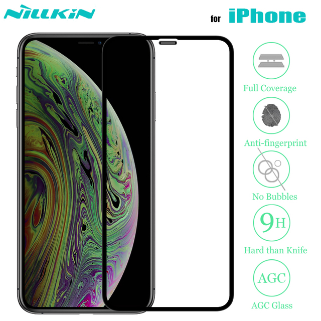 Nillkin iphone xr 11 プロ max x xs 強化ガラススクリーンプロテクター 3D フルカバレッジ安全 iphone 8 7 プラス se 2020
