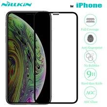 Nillkin para iPhone Xr 11 Pro Max X Xs Protector de pantalla de vidrio templado 3D vidrio de seguridad de cobertura completa para iPhone 8 7 Plus SE 2020