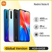 "2021 Newest Global Version Xiaomi Redmi Note 8 4GB 64GB MTK Helio G85 Smartphone 48MP Quad Rear Camera Bluetooth 5.2 6.3""FHD 1"