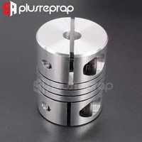 Accesorio de impresora 3D acoplador de 5X8mm CNC aleación de aluminio Z Eje paso a paso Motor Acoplamiento de eje Flexible para tornillo de plomo T8