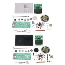 DIY LCD zestaw radia FM elektroniczne nauczanie edukacyjne Suite zakres częstotliwości 72-108.6MHz 77UB