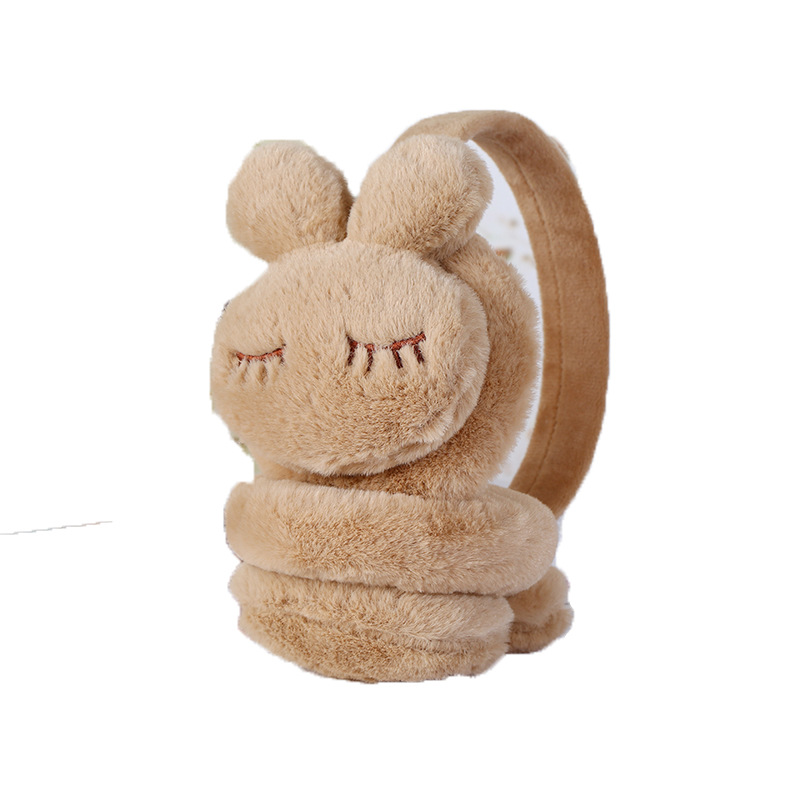 Cute 3D Rabbit Warm Earmuffs Autumn Winter Kids And Boys Lovely Outdoor Soft Plush Ear Warmer For Women Girls Ear Cover Earflaps