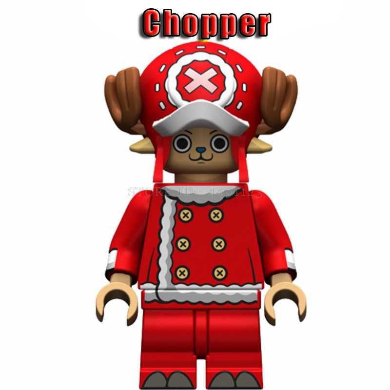 Blocos de Caixa de Uma Peça Figura Filme Brinquedos Luffy Ace Sabo Nime Chopper Zoro Robin Figuras de Ação Presente de Natal Blocos Da Cidade brinquedos