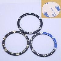 Bisel de aluminio para relojes de hombre, repuesto de caja de reloj de 38mm, negro, azul, negro y dorado, para Seiko SKX007 SKX009 SPRD Sub