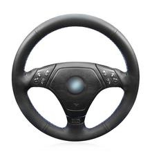 For BMW E36 E46 E39 car hand-sewn steering wheel cover black artificial leather