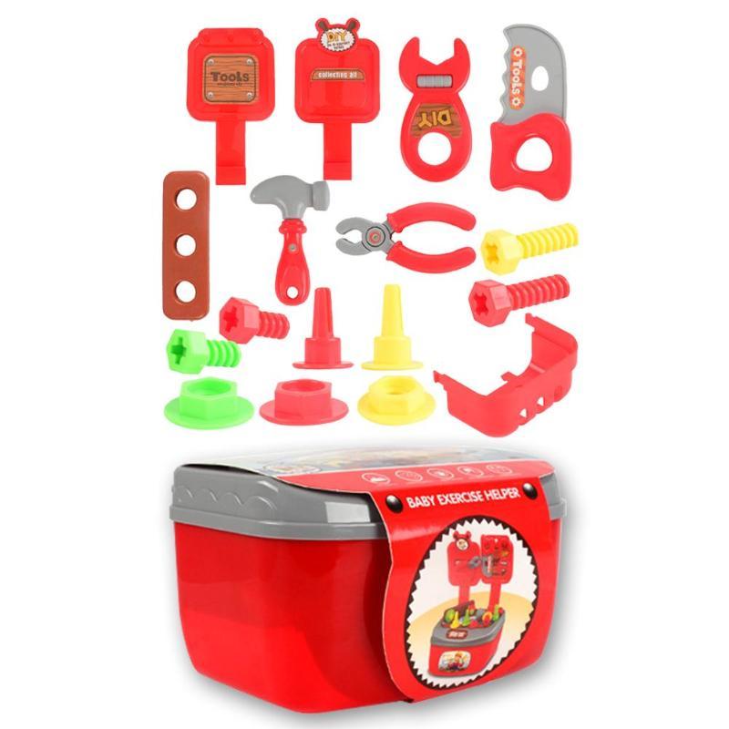 22pcs Portable Simulation Repair Toolbox Kit For Kindergarten Kids Children Toys Early Education Intelligence Development