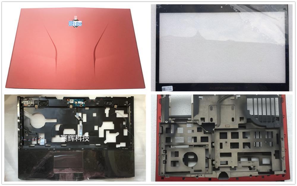 New Case For Delll Alienware M14X R1 R2 LCD Top Back Cover/Bezel/Palmrest Upper/Bottom Lower/Keyboard Backlit/Power Button/jack