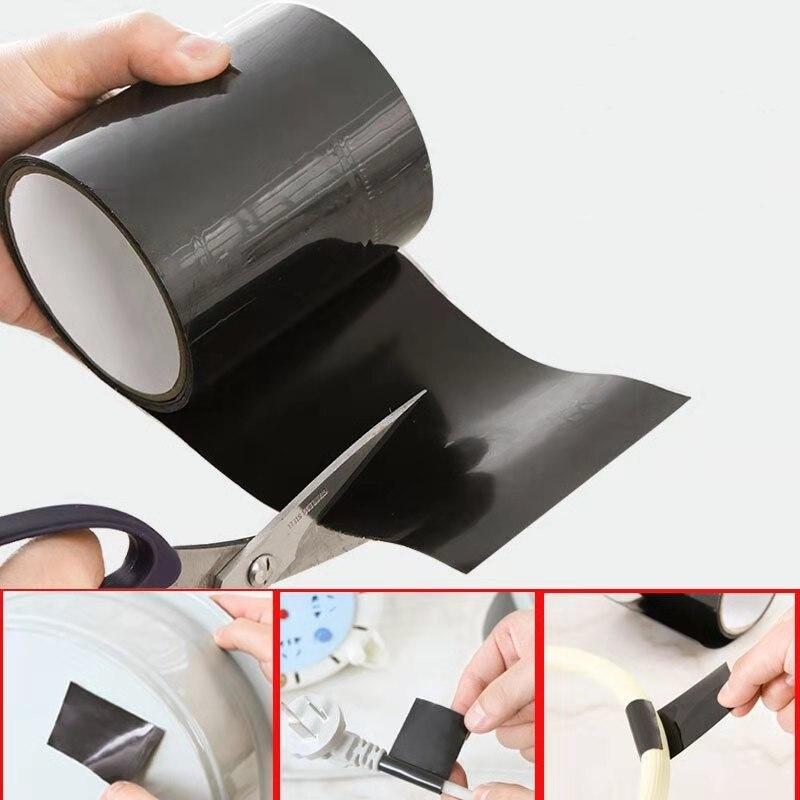 Super Strong Fiber Waterproof Tape Stop Leaks Seal Repair Tape Performance Self Fix Tape Fiber Fix Adhesive Insulating Duct Tape