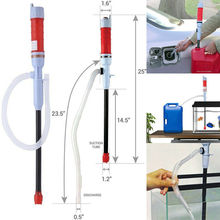 Electric Liquid Fuel Syphon Pump Automatic For Transfer Car Gas Oil Water Supply Battery Operated Diesel Siphon Pipe universalcar partment car motorcycle manual hand siphon syphon pumps oil gasoline diesel fuel liquid transfer pipe refuel sucker