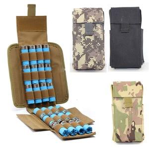 Tactical Gun Ammo Bags Molle 25 Round 12GA 12 Gauge Ammo Shells Shotgun Magazine Pouches Molle Military Hunting Accessories