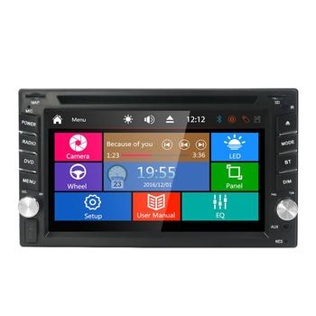 6.2 Inch 2DIN Universal Car DVD player Stereo Audio Head unit WINCE Car Multimedia RDS SWC BT RU MAP CAMERA SD Mirror link cam image