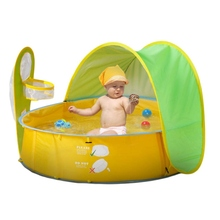Pop-Up Baby Beach Tent UV Protection Sun Shelters Portable Kids Play Tent Foldable Indoor & Outdoor Baby Pool Beach Canopy Tents the pop up baby cradle sleeping basket small tent folding uv protection baby bed freeshipping