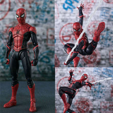 15cm Spiderman Figure Spider man Far From Home Action Figure PVC Model Toy For Kids Gift 4pcs lot super climber stikbot action figure toy cartoon spider man stik bot funny play collection jouet children birthday gift