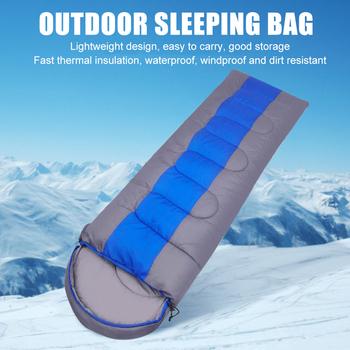 Wiatroszczelny śpiwór śpiwór koc dorosłych na zewnątrz bawełny podróży Camping ciepłe dla rodziny na zewnątrz akcesoria kempingowe tanie i dobre opinie [0℃ ~-10℃] Łączenie singiel śpiwór Dla dorosłych Standardowy (nadaje się do 1 8 m wysokości i poniżej) CN (pochodzenie)
