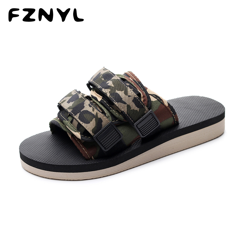 Promo FZNYL 2019 New Arrival Men Flat Sandals Breathable Non-slip Women Mens Summer Shoes Fashion Casual Sandal Big Size 35-46