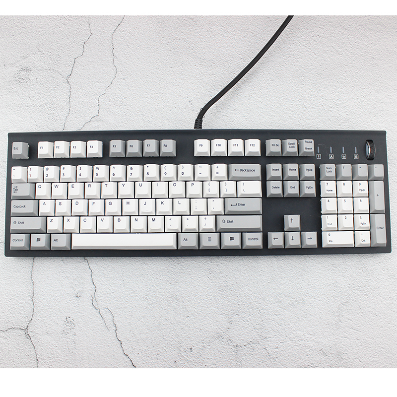 New IDOBAO Big F Dye Sub Keycaps 3000 3800 3850 For Mechanical Keyboard 104 Key Cherry Profile Thick Pbt Keycap Gh60 xd60xd84 in Keyboards from Computer Office