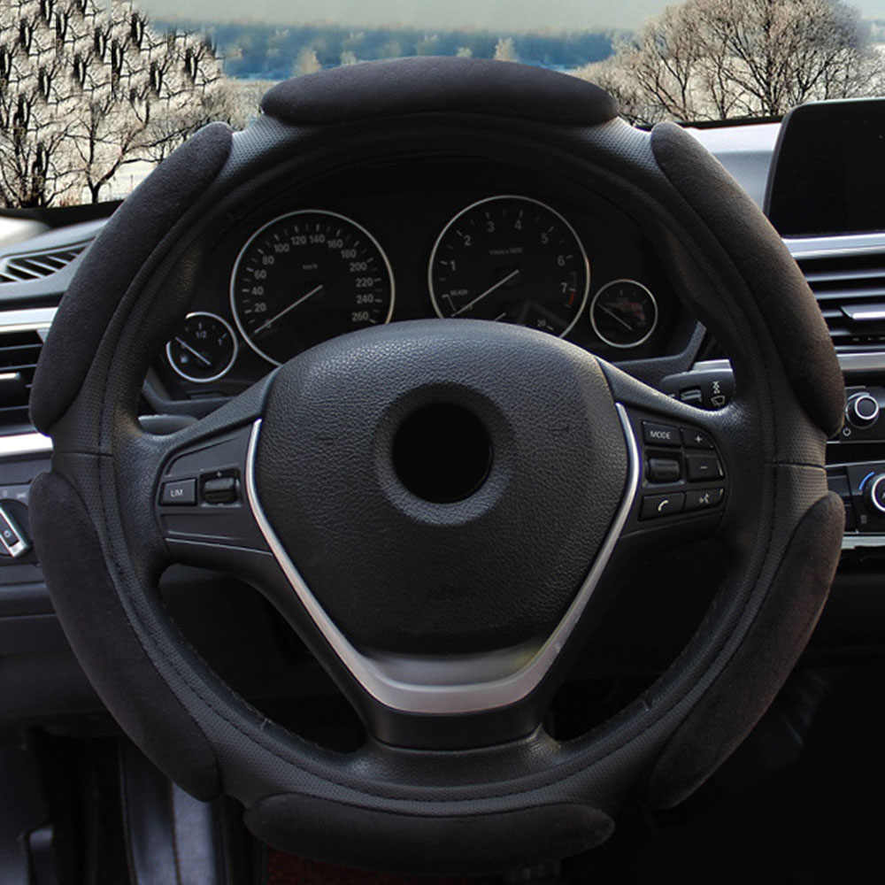 Universal Steering wheel cover Auto Inner Non-slip Flocking Cloth Cushion