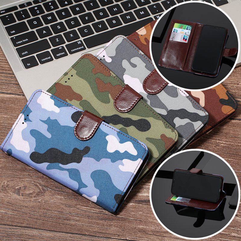 Army Camouflage Wallet Flip <font><b>Case</b></font> For <font><b>Nokia</b></font> 1 2 3 5 6 7 8 9 106 2018 Cover for X5 X6 X7 2.1 3.1 5.1 Plus 3310 2017 <font><b>230</b></font> 640 950 XL image