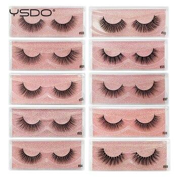 YSDO fluffy mink eyelashes faux 3d mink lashes dramatic eyelashes natural false eyelashes makeup eyelash extension tools cilios