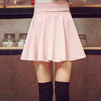Summer Pink Pleated Street wear Mini Skirts