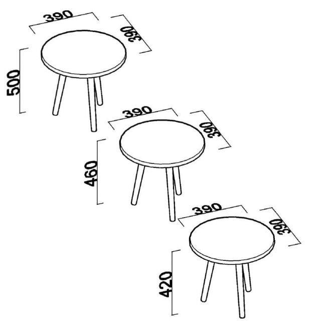 3 PCs Round Coffee Table  5