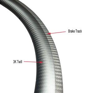 Image 2 - LIENGU hohe TG 250 ℃ v bremse track 700C 55mm rennrad felge 18mm innere asymmetrische tubeless v bremse fahrrad rad UD 12K 3K Köper