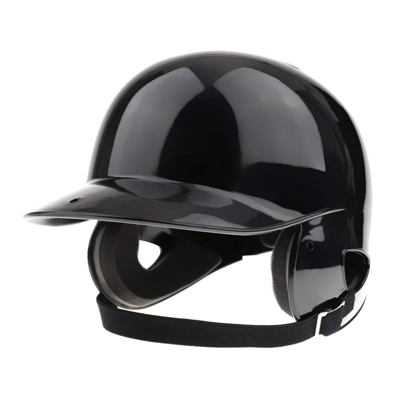 TOP!-Batter's Helmet Softball Baseball Helmet Double Flap - Black