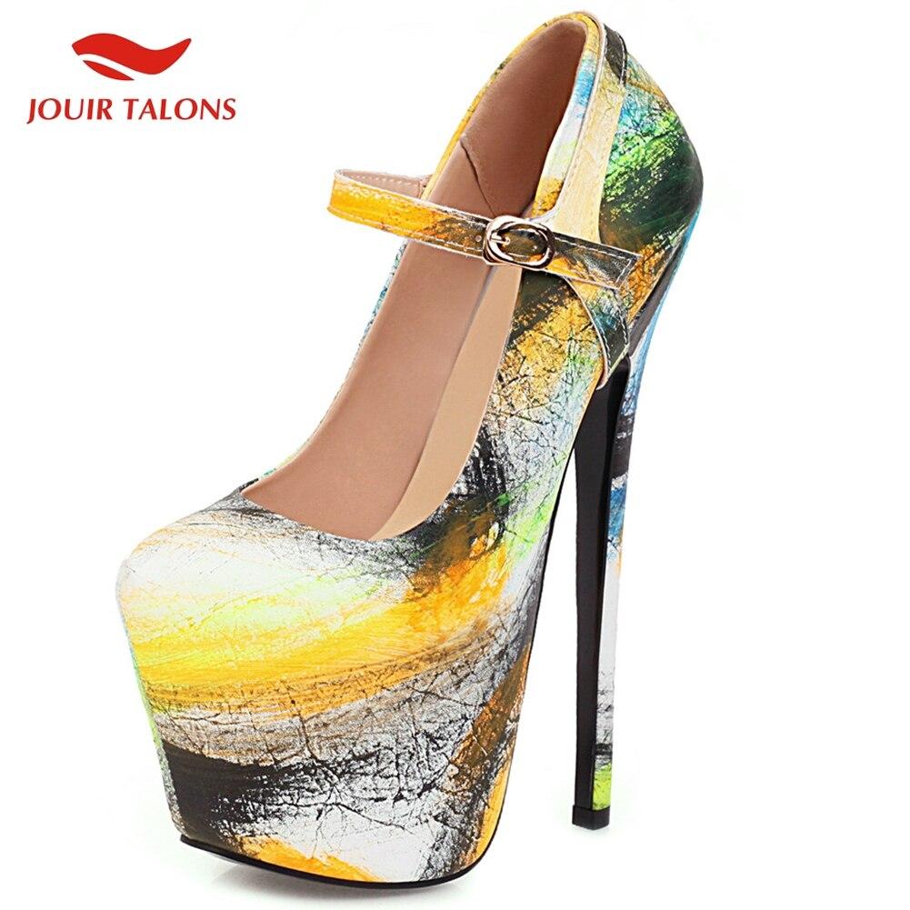 Brand New On Sale Top Big Size 50 Fetish Heels Extreme High Platform Party Wedding Nightclub Woman Shoes Women Pumps