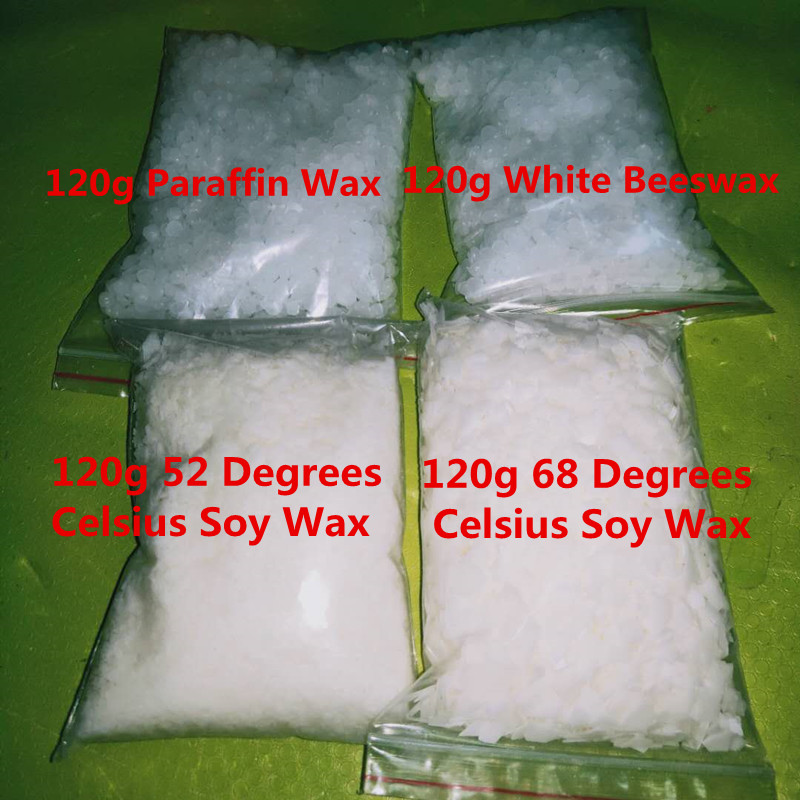 120g Wax For Candle Making DIY Scented Candles Raw Materials For Rookie Soy Wax/Paraffin Wax/Beeswax Handmade Candle Supplies