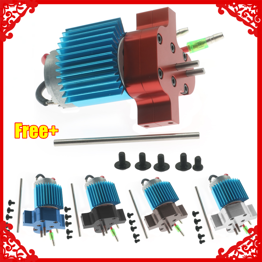 380 brushed motor with alloy heatsink +gearbox housing +steel gear for 1/16 WPL Ural Henglong B14 B16 B24 B36 Q60 Q61 Q62 part|Parts & Accessories| |  - title=